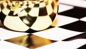 Красивая чашка металла на доске Стоковые Фотографии RF