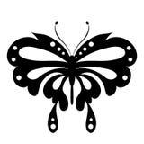 Красивая черная бабочка, изолированная на белизне Стоковая Фотография