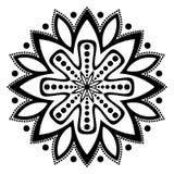 Красивая черно-белая иллюстрация мандалы Украшение, азиат стоковые фото