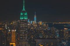 Красивая широкая съемка городского города стоковая фотография rf