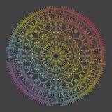 Красивая этническая мандала с цветочным узором Стоковая Фотография