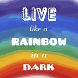Красивая яркая радуга красит плакат акварели Стоковые Фото