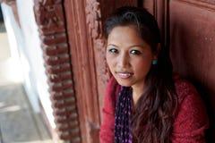 Красивая nepalese девушка стоковое фото rf