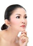 Красивейшая азиатская сторона женщины стоковое изображение