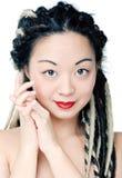 Красивейшая азиатская усмешка женщины Стоковое Фото