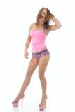 Красивейшая атлетическая женщина Стоковое фото RF