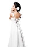 красивейшая белизна венчания девушки платья невесты Стоковое Фото