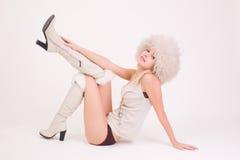 красивейшая белизна девушки одежд Стоковая Фотография RF