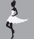 красивейшая белизна девушки платья Стоковое Изображение
