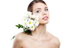 красивейшая белизна повелительницы цветков стоковая фотография rf