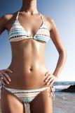 красивейшая белизна тела бикини Стоковые Фотографии RF