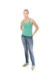 красивейшая белокурая девушка вскользь одежд Стоковое Фото