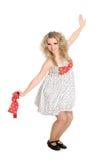 Красивейшая белокурая девушка в танцульке. Стоковая Фотография