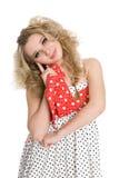 Красивейшая белокурая девушка в танцульке Стоковые Изображения RF