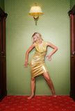 красивейшая белокурая девушка сексуальная стоковая фотография rf