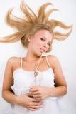 красивейшая белокурая девушка Стоковые Фотографии RF