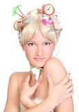 красивейшая белокурая девушка Стоковые Фото