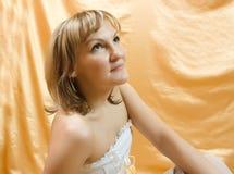 красивейшая белокурая женщина портрета Стоковые Фото