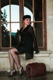 красивейшая белокурая женщина портрета стоковые изображения rf