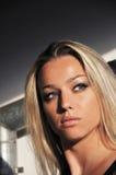 красивейшая белокурая женщина портрета Стоковое Изображение RF