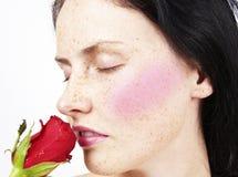 красивейшая белокурая женщина цветка Стоковое Фото