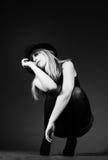 красивейшая белокурая женщина шлема Стоковые Фото