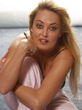 красивейшая белокурая женщина Стоковое Изображение