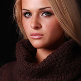 Красивейшая белокурая женщина Стоковое Фото