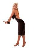 красивейшая белокурая представляя женщина Стоковое Изображение