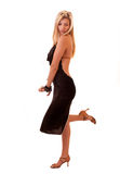 красивейшая белокурая представляя женщина Стоковое Изображение RF