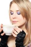 красивейшая белокурая чашка Стоковые Фото