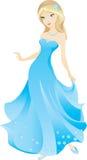 красивейшая белокурая девушка шаржа Стоковая Фотография