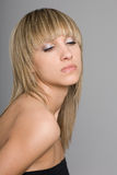 красивейшая белокурая девушка Стоковое Фото