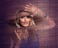 красивейшая белокурая представляя женщина Стоковые Фото