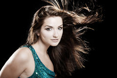 красивейшая блестящая женщина Стоковая Фотография RF