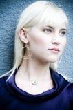 красивейшая блондинка 01 Стоковое Изображение