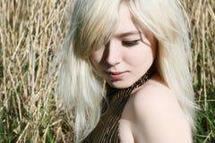 красивейшая блондинка Стоковое Изображение RF