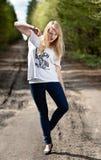 красивейшая блондинка Стоковые Фотографии RF