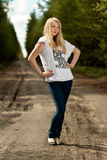 красивейшая блондинка Стоковое фото RF