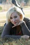 красивейшая блондинка 7 outdoors Стоковые Фото