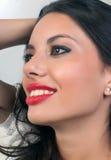 красивейшая большая усмешка девушки Стоковое Фото