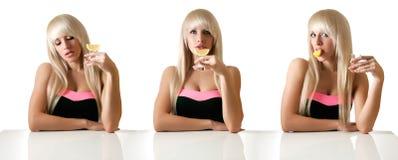 Красивейшая блондинка в адвокатском сословии Стоковое Изображение