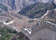 красивейшая Великая Китайская Стена фарфора стоковое изображение