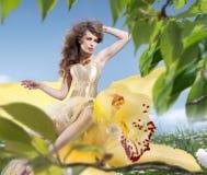 красивейшая весна девушки Стоковая Фотография