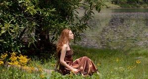 красивейшая внешняя женщина Стоковое Изображение