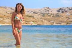 красивейшая вода девушки Стоковое Фото