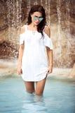 красивейшая вода девушки Стоковые Фотографии RF