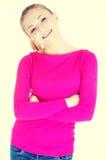 красивейшая вскользь женщина Стоковое Фото