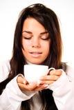 красивейшая выпивая женщина Стоковая Фотография