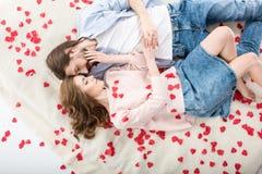 красивейшая влюбленность пар Стоковая Фотография
